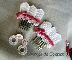 Cucadas de Connina: Complementos de Flamenca 2012 Dance Dresses, Hair Clips, Diy, Moka, Andalucia, Style, Kids Fashion, Spain, Creative Crafts