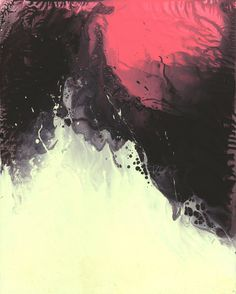 Abstract ink transfer work by Michael Cina