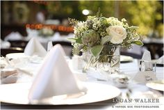 Sarah's reception tables at Millcreek Inn, Utah.  Wedding shot by Logan Walker of Pepper Nix Photography.