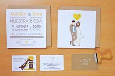 Papelería boda Andrea & Dani