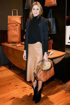 The Olivia Palermo Lookbook : Olivia Palermo At Ghurka Handbag Collection Launch in New York.