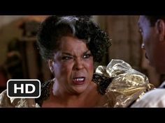 Harlem Nights   Vera (Della Reese) takes Quick (Eddie Murphy) to the back alley to teach him a lesson for accusing her of stealing.  .