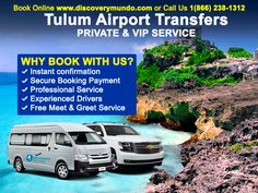 Airport Shuttle from #Cancun to any hotel in Tulum. Roundtrip/Oneway. Best prices this summer!