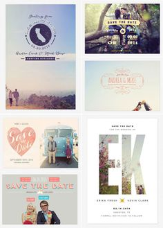 Love vs. Design + Max Wanger Save the Dates... I like the EK one
