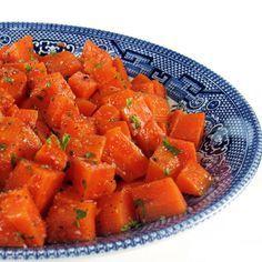 Moroccan Carrot Salad (carrots, garlic, cinnamon, cumin, sweet paprika or Aleppo pepper, lemon (juice), sugar, Salt,  Olive oil, fresh parsley)