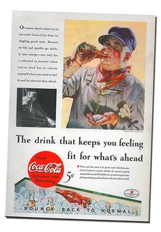 The Fort Wayne Railroad Historical Society Coca-Cola Spec Work - The drink that keeps you feeling fit.