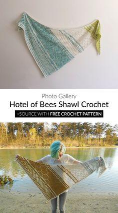 Hotel of Bees Shawl Crochet
