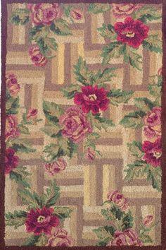 Hand-hooked rug