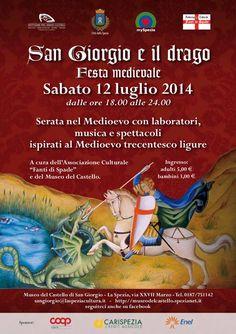 """Italia Medievale: Festa medievale """"San Giorgio e il drago"""" a La Spezia"""