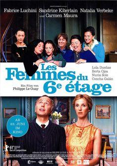 LES FEMMES DU 6E ÉTAGE - FABRICE LUCHINI - SANDRINE KIBERLAIN - FILMPOSTER A4