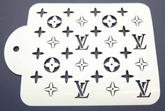 Designer Louis Vuitton Cake Decorating Stencil www.lollipopcakesupplies.com.au