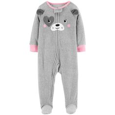 Baby Girl Carter s Puppy Dog Microfleece Footed Pajamas 381f7464a