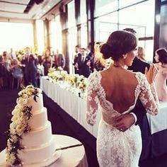 Laced back wedding dress