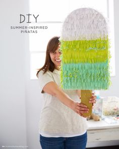 39 Easy DIY Party Decorations - DIY Summer Inspired Pinata - Quick And Cheap Party Decors, Easy Ideas For DIY Party Decor, Birthday Decorations, Budget Do It Yourself Party Decorations http://diyjoy.com/easy-diy-party-decorations
