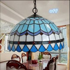 Aliexpress.com: Comprar Romantic mediterráneo azul de la lámpara ...
