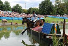 equestrian 5: Britain's William Fox-Pitt riding LionHeart over jump 18