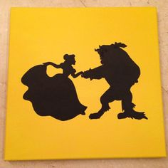 beauty and the beast silhouette - Google Search
