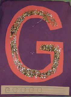 Alphabet Play - G is for Glitter   momstown Hamilton