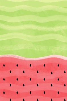 Stefanie's Kate Spade watermelon iPhone wallpaper background.