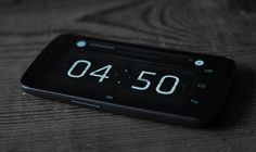 The flip clock uses Klavika, one of the best typefaces ever designed