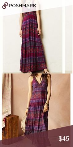 """Anthropologie Rubus Maxi dress We can't resist a dress that goes from al fresco brunch to summer soiree without missing a beat, like this raspberry-hued mesh one from Weston Wear. By Weston Wear Pullover styling Nylon Hand wash Regular falls 57"""" from shoulder Petite falls 53"""" from shoulder Model is 5'10"""" USA Anthropologie Dresses"""
