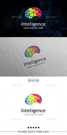 Brain Logo: Abstract Logo Design Template created by Exe-Design. Logo Design Template, Logo Templates, Logo Branding, Branding Design, Logan, Brain Logo, Education Logo, Health Education, Finance Logo
