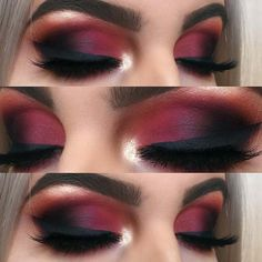Matte Red Smokey Eye