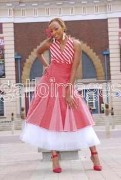 Fun with colour and Tulle Seshoeshoe Designs, Blouse Designs, African Traditional Wear, Traditional Outfits, African Prints, African Fabric, Tribal Clothing, Shweshwe Dresses, Tribal Outfit