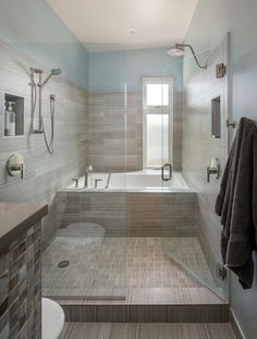 Contemporary Bathroom Design Ideas, Pictures, Remodel and Decor Bathroom Renos, Bathroom Layout, Bathroom Interior, Small Bathroom, Bathroom Ideas, Bathroom Organization, Bathroom Cabinets, Minimal Bathroom, Bath Ideas