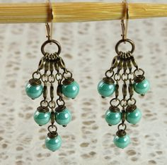 Chandelier design earring by EstelleLukoffDesigns on Etsy, $40.00