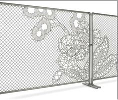 Chain link fence made beautiful