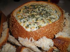 #cobb loaf dip...delicious! Quick and simple party food.