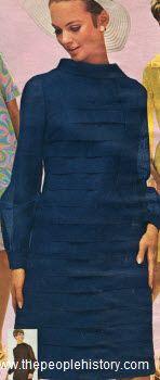 1968 Horizontal Tuck Dress