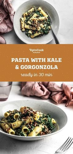 Quick pasta with kale & Gorgonzola The post Pasta with kale & gorgonzola appeared first on Tasty Recipes. Lacto Vegetarian Diet, Best Vegetarian Recipes, Healthy Recipes, Veggie Recipes, Healthy Food, Snack Recipes, Healthy Eating, Gorgonzola Pasta, Healthy Weeknight Meals