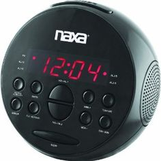 NAXA NRC-172 PLL Digital Dual Alarm Clock with AM/FM Radio and Snooze (Black Lacquer)
