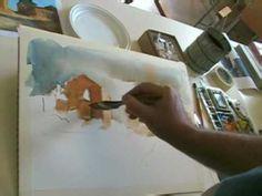 Lezione di Gorlini: un acquerello sul paesaggio - Feltre 2009 - YouTube