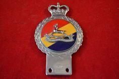 Vintage / Classic Metal / Enamel Car Badge - J R Gaunt - Royal Canadian Dragoons