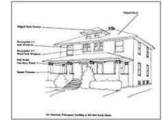 1000 images about american four square house on pinterest for Simple roofline house plans