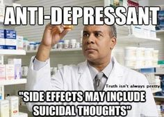 anti depressant may cause suicidal thoughts