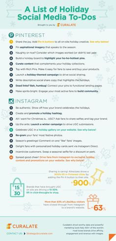 Instagram and Pinterest Marketing - A List Of Holiday Social Media To-Dos