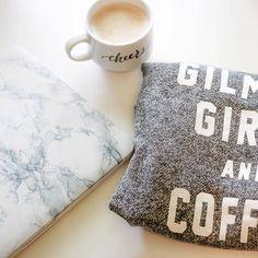 Sunday essentials. Coffee. Gilmore Girls and Netflix
