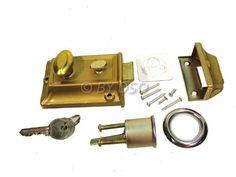 Tool-Tech Brass Effect Cylinder Door Lock 3 Keys Full Fitting Kit Door Locks, Keys, Brass, Doors, Amazon, Architecture, Decoration, Home Decor, Arquitetura
