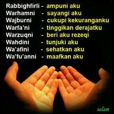 Say a prayer. Doa Islam, Allah Islam, Islamic Inspirational Quotes, Islamic Quotes, Ied Mubarak Quotes, Couples Prayer, Funny Whatsapp Status, Funny Statuses, Say A Prayer