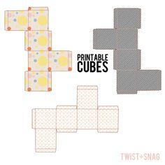 cupcake boxes template printable | Printable cupcake cube/boxes - Free Resource - Charlotte Aldarwish