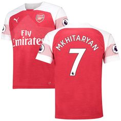 Henrikh Mkhitaryan Arsenal Puma Home Replica Player Jersey - Red Arsenal Kit, Arsenal Jersey, Hector Bellerin, Blame, Pierre Emerick, Scream, Red, Squad, Crisp