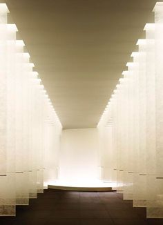 kanebo sensai select spa - corridor  fabric & Light
