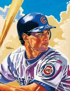 Cubs Ryne Sandberg by Dick Perez