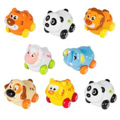 Cartoon Animals Friction Push and Go Toy Cars Play Set for Baby Set of 8 >>> You can get more details by clicking on the image. (This is an affiliate link) Toddler Toys, Baby Toys, Animals For Kids, Cute Animals, Car Themed Parties, Toy Cars For Kids, Power Animal, Developmental Toys, Pull Toy