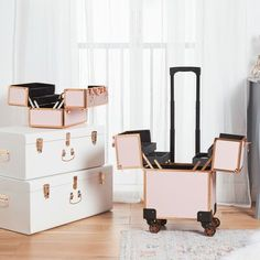 Room Decor Bedroom Rose Gold, Home Decor Bedroom, Mirror Jewelry Storage, Jewellery Storage, Acrylic Makeup Storage, Headboard With Shelves, Vanity Room, Vanity Set, Storage Stool