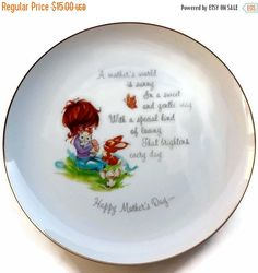 50% off Mother's Day Commemorative Plate by EclecticVintager